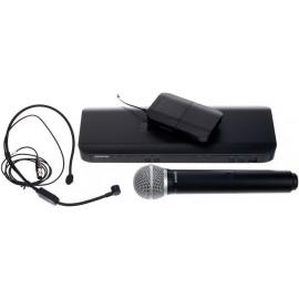 SHURE BLX1288E/P31 - комбиниран безжичен микрофон дръжка PG58 и дидаема headset PGA31